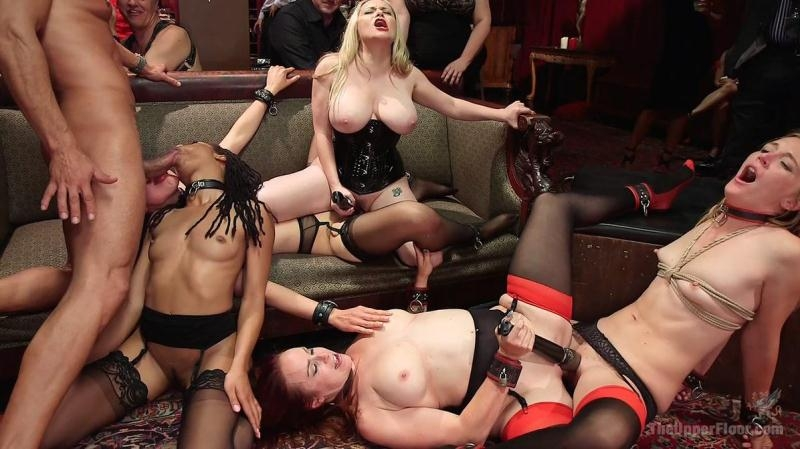 Slave Orgy Unchained - Aiden Starr, Lilith Luxe, Mona Wales, Bella Rossi, Kira Noir | TheUpperFloor | 2017 | HD | 1.96 GB