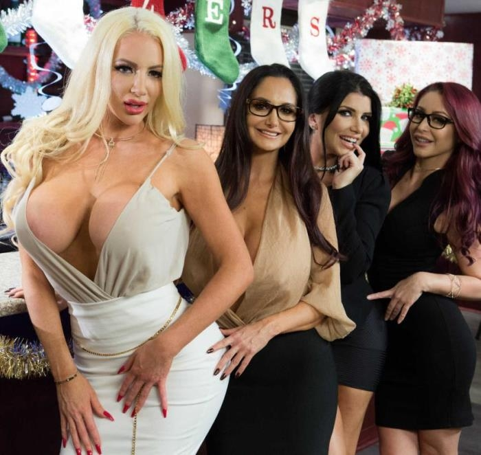 Office 4-Play: Christmas Bonuses - Ava Addams, Monique Alexander, Nicolette Shea, Romi Rain | BigTitsAtWork, BraZZers | 2017 | HD | 1.29 GB