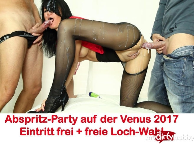 Abspritz-Party im Clubraum der Venus-Messe 2017 Cumshot party in the club room of the Venus fair - Alexandra-Wett | MyDirtyHobby | 2017 | HD | 73.6 MB