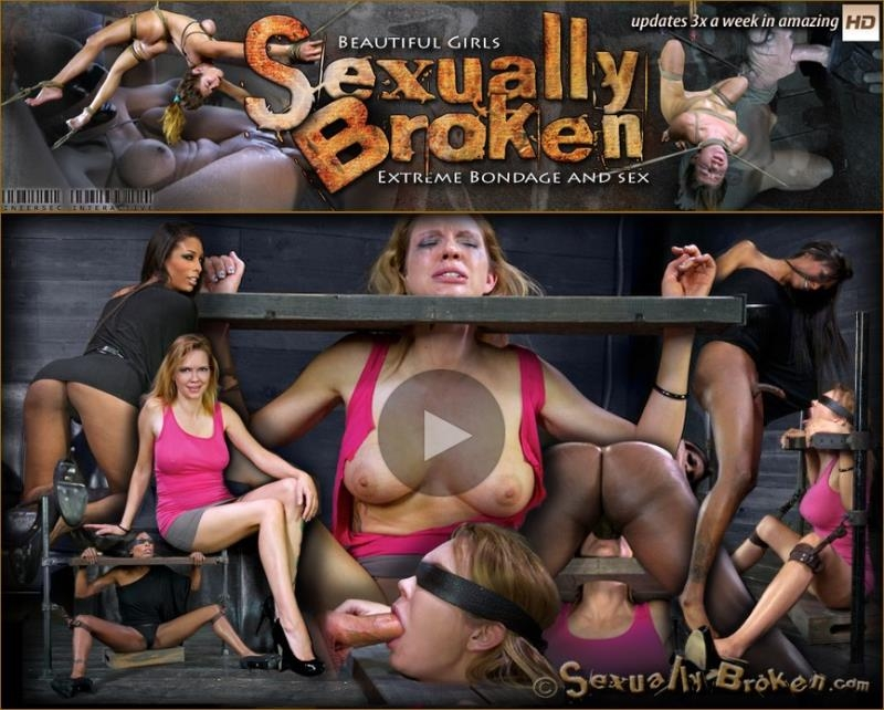 Sexy blond, with long legs, gets brutally throat fucked by two cocks! suffers multiple orgasms! - Rain DeGrey, Natassia Dreams, Matt Williams | SexuallyBroken | 2013 | HD | 858 MB