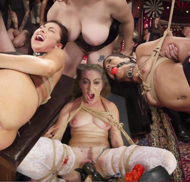 Nympho Slave Slut Soaks The Folsom Orgy with Squirt - Aiden Starr, Kira Noir, Melissa Moore | Kink, TheupperFloor | 2017 | HD | 2.77 GB