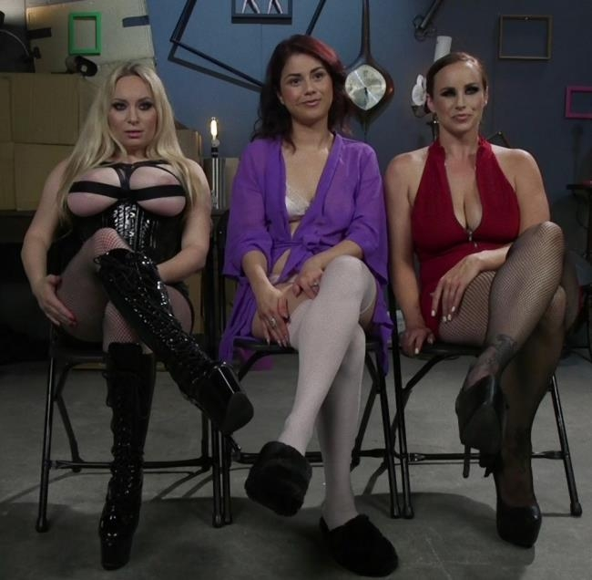 Dominating Dreams: First Time Kink Model is Tag-Teamed by Horny Lesbos - Aiden Starr, Bella Rossi, Penelope Reed | Kink, WhippedAss | 2017 | HD | 2.16 GB