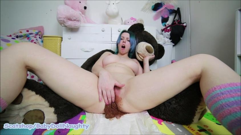 Shitty diapers and open smearing - BabyDollNaughty  | 2019 | FullHD | 1.35 GB