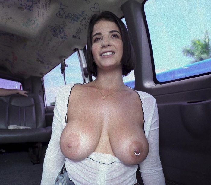 Pierced Nipple Girl Gets Fucked Hard - Antonella LaSirena | BangBros, BangBus | 2019 | FullHD | 3.87 GB